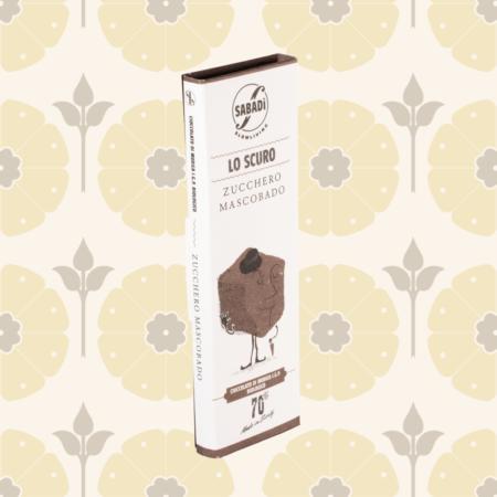 Cioccolato di Modica fondente 70% IGP biologico con zucchero Mascobado - Lo Scuro - Delicatessen in Drogheria a Ragusa - Spesa online
